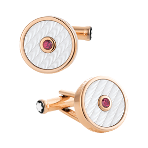 "107585 Запонки Montblanc ""Gold and garnet"""