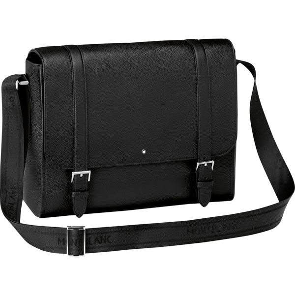 114455 Сумка Montblanc Meisterstück Soft Grain Black Messenger Bag