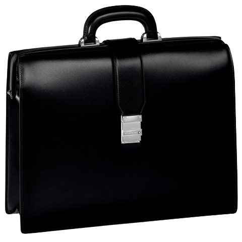 105923 Портфель Montblanc Meisterstuck Single Gusset Framed Briefcase Black